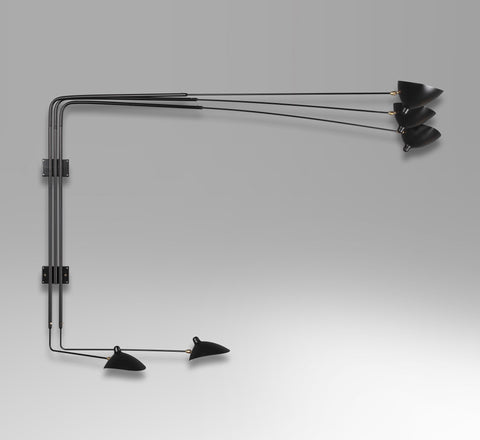 5-armed wall lamp by Serge Mouille