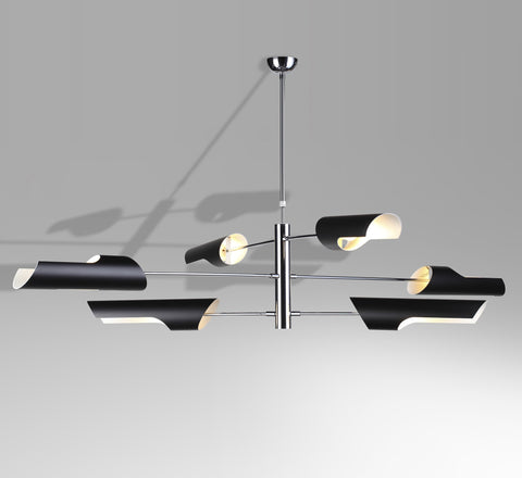 Modern 6-arm ceiling lamp