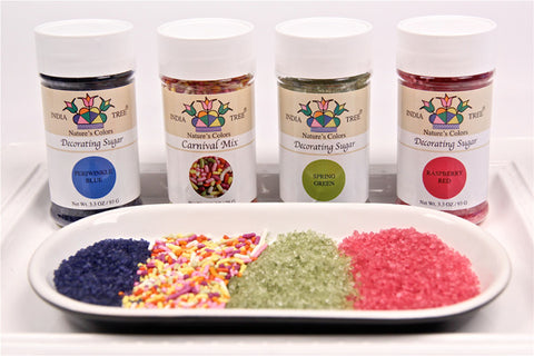 India Tree sprinkles sugars all natural no artificial color or flavor