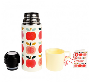 Vintage Apple Flask and Cup