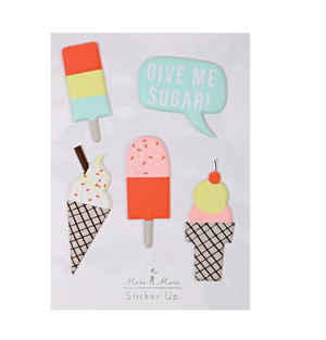 Ice Cream Puffy Stickers