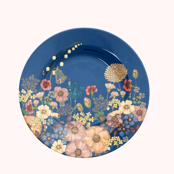 Rice DK Melamine Lunch Plate Flower Collage Print