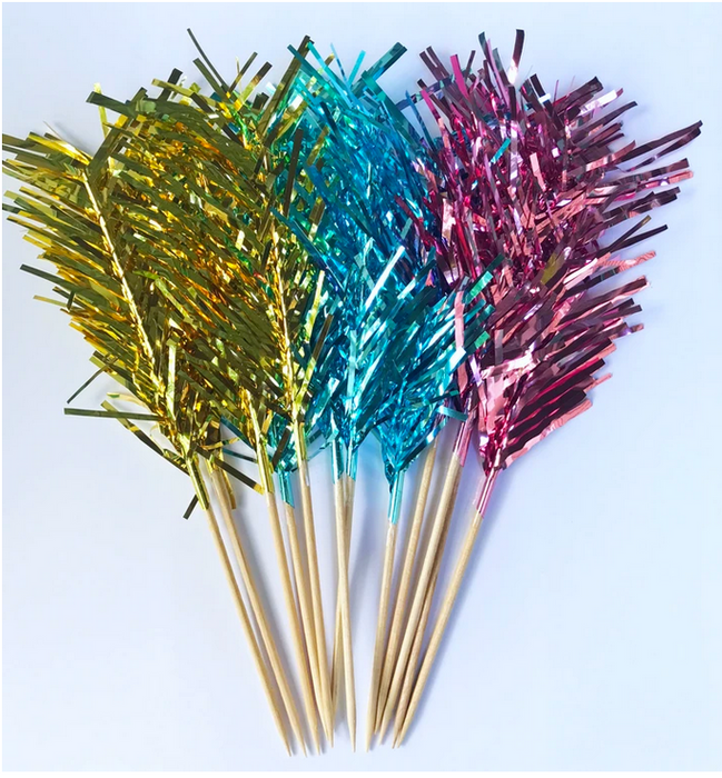 Rice DK Metallic Foil Feather Picks