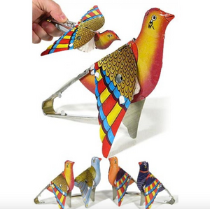 Whistling Flapping Partridge Tin Toy