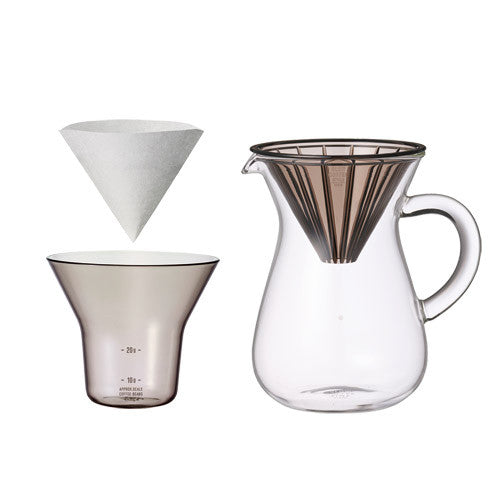 Kinto Slow Coffee Style Carafe Set 300ml Plastic