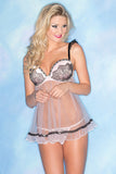 Babydoll & Thong Set - Queen Size