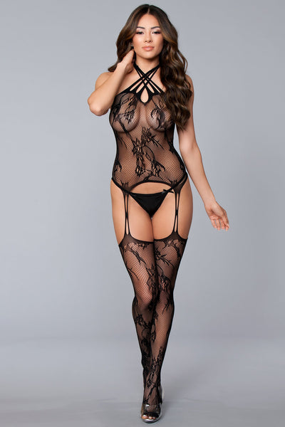Halter Suspender Bodystocking