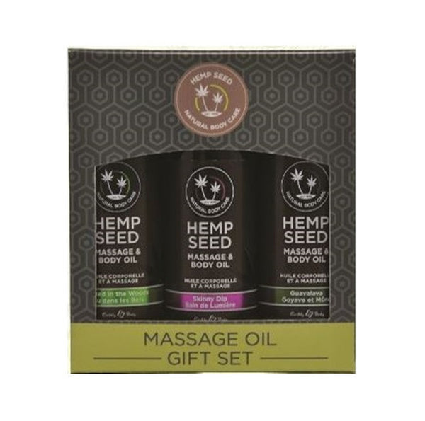Massage Oil Gift Set - Skinny Dip, Naked in the Woods & Guavalava (2 Oz. Each)
