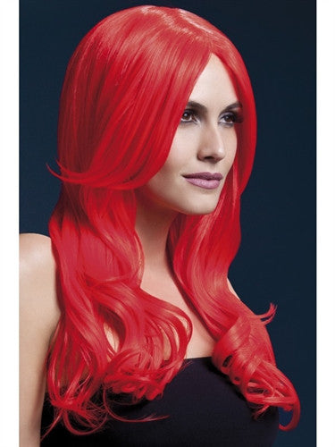 Khloe Wig - Neon Red