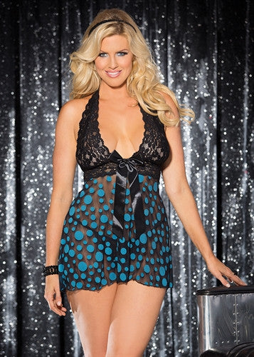 Large Polka Dot Net Babydoll
