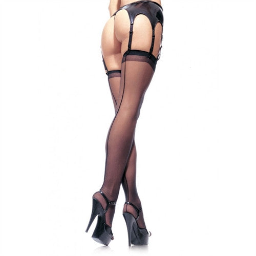 Sheer Backseam Thigh High Stockings