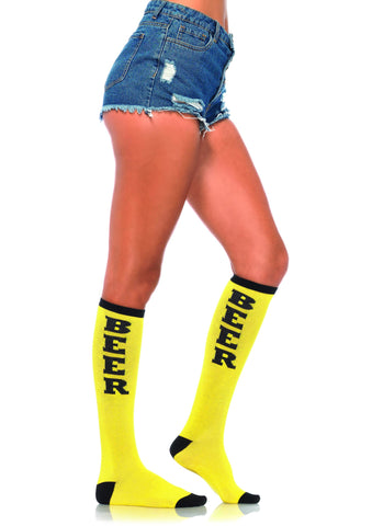 Beer Run Knee High Socks