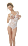Lace Open Cup Crotchless Teddy