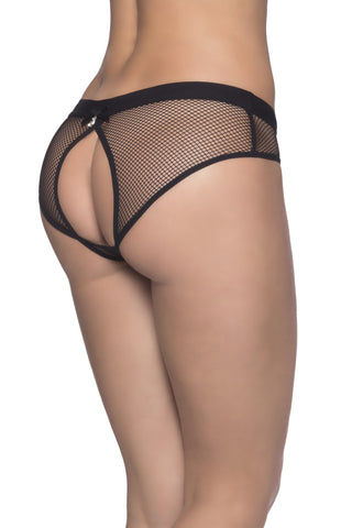Backless Fishnet Panty