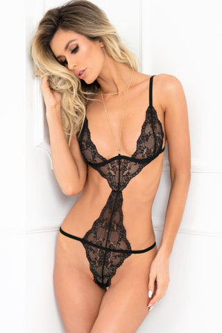 Wham Bam Straps & Lace Body Jewelry Teddy