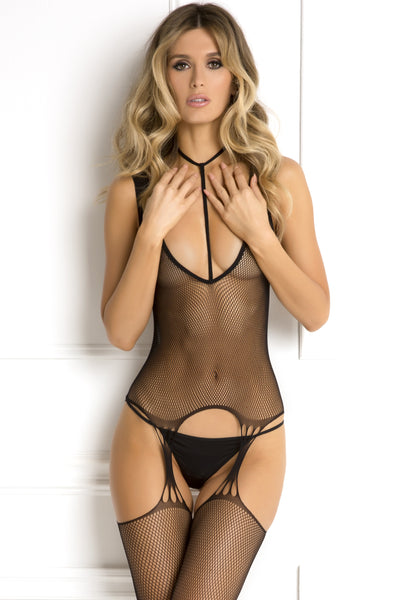 Holy Plunge Harness Garter Bodystocking