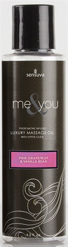 Me & You Massage Oil - Pink Grapefruit & Vanilla Bean (4.2 oz)