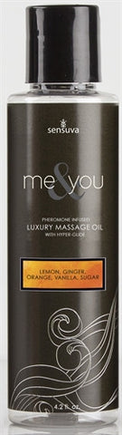 Me & You Massage Oil - Lemon Ginger Orange Vanilla Sugar (4.2 oz)