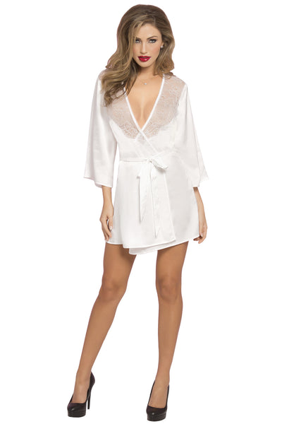 Satin & Eyelash Robe