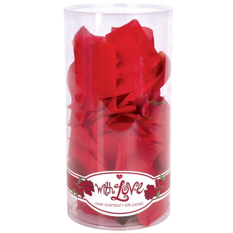 With Love Rose Scented Silk Petals - Red