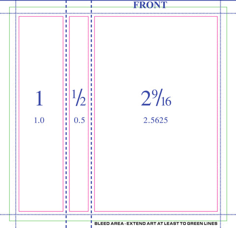 50 professionally printed 3 panel j cards double sided w scoring