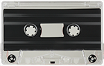 50 Duplicated Cassette Tapes with J-Cards, Shell Print or Labels, & Cases