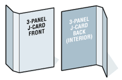 Blank 3-Panel Printable J-Cards - 17722 Laser/Inkjet