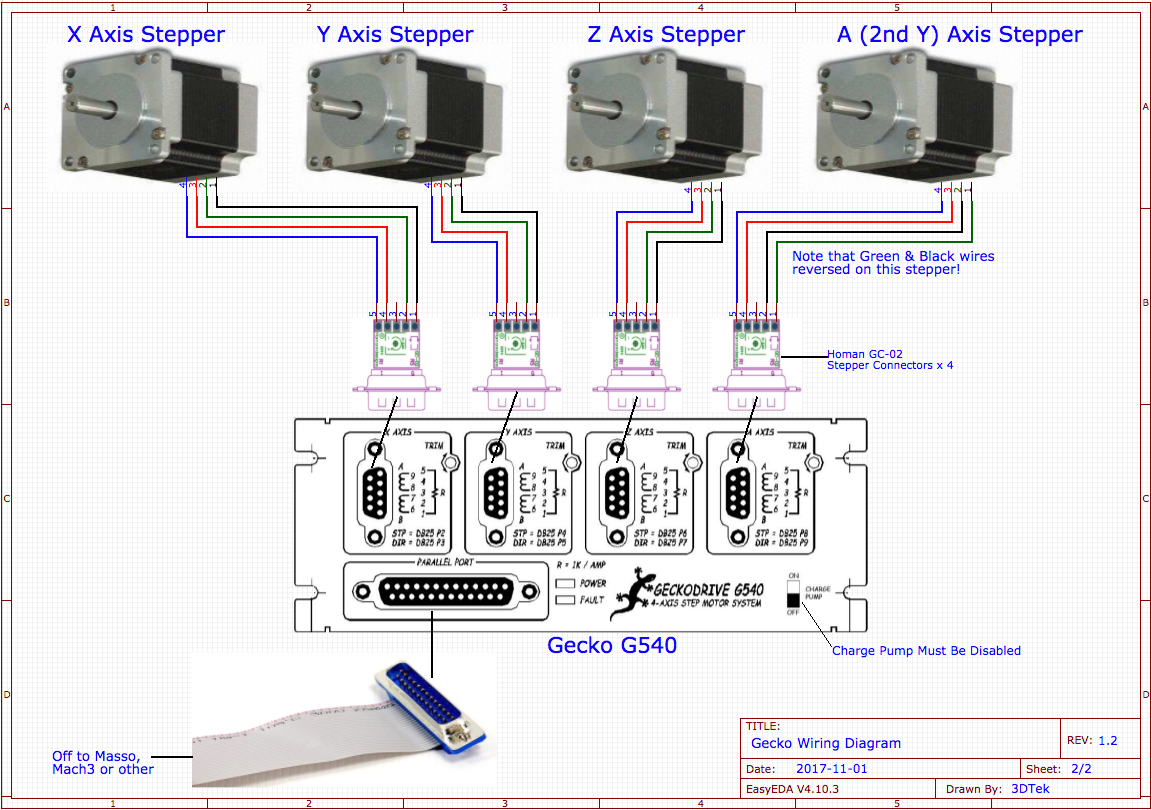 Gecko Wiring Diagrams 3dtek 4 Motor Parallel Diagram Collections