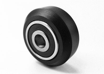 Dual Bearing Solid Delrin V Wheel