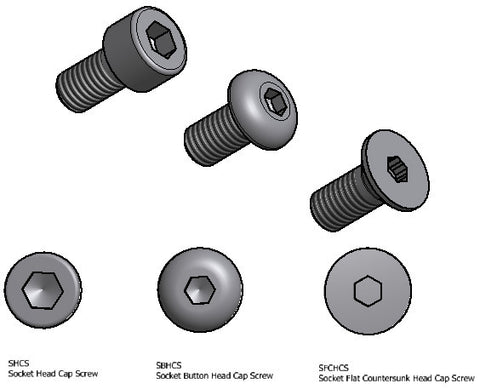 TEMPLATE M2 Machine Screws / Bolts - Bags of 25 Ea
