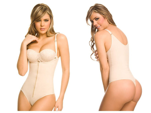Ann Chery 1019 Powernet Body Shaper Enelia Thong Color Beige - Control Bodysuits - 365Me Shapewear