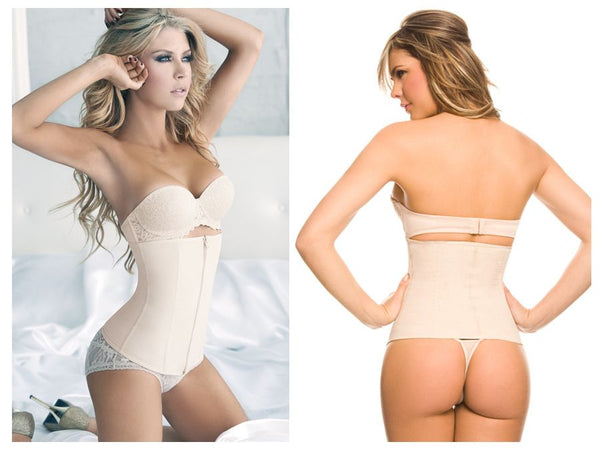 Ann Chery 1024B Powernet Girdle with Zipper Color Beige - Waist Cinchers - 365Me Shapewear