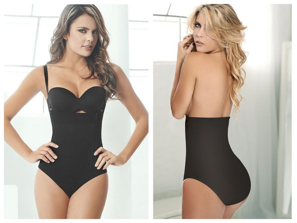 Ann Chery 1043 Powernet Body Fiorela Color Black - Control Bodysuits - 365Me Shapewear