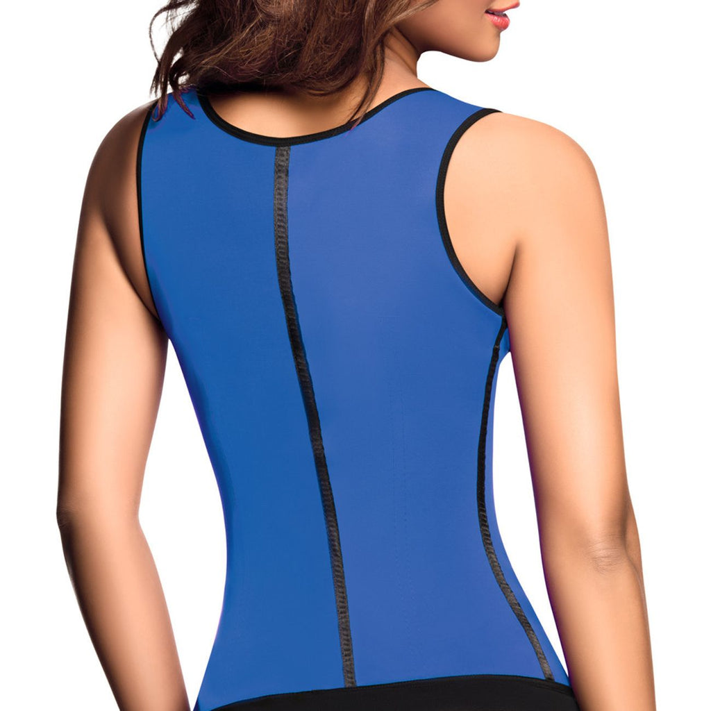 Ann Chery 2022 Classic 3 Hooks Latex Waist Cincher Shapewear Vest Color Blue - Waist Cinchers - 365Me Shapewear