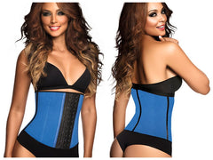 Ann Chery 2023 Latex Sport Workout Waist Cincher Corset Color Blue Plus