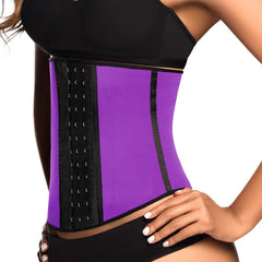 Ann Chery 2023 Latex Sport Workout Waist Cincher Corset Color Purple
