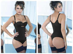 Ann Chery 4012 Latex Body Thong Color Black Plus