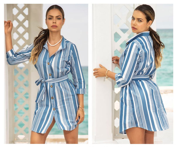 Mapale 4638 Dress Color Blue Stripes