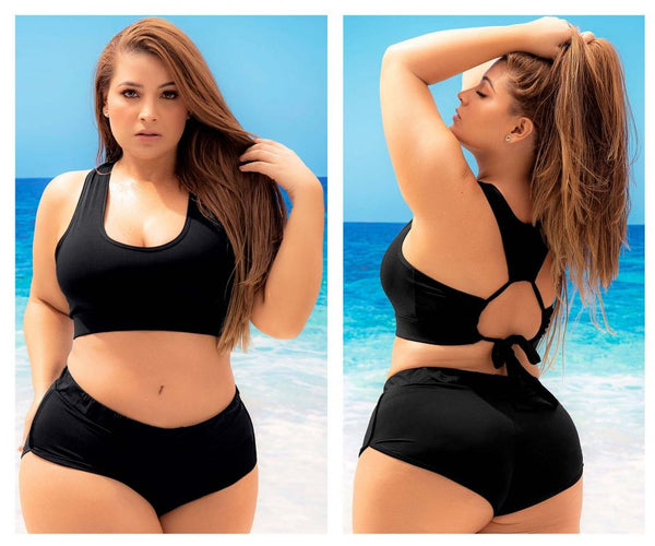 Mapale 6616X Two Piece Swimsuit Color Black