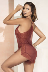 Mapale 7242 Babydoll/Romper Color Terracotta