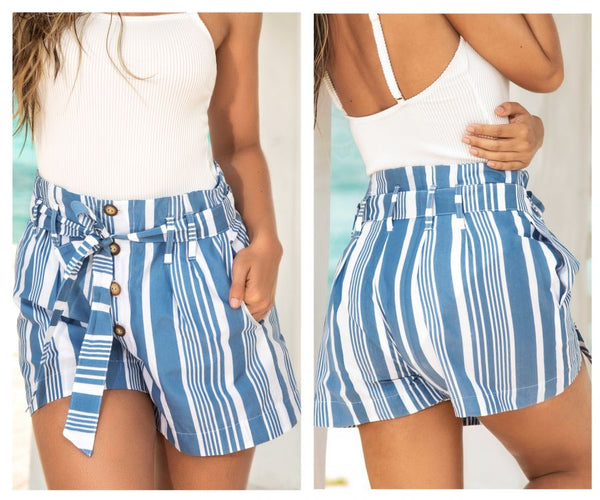 Mapale 7923 Shorts Color Blue Stripes