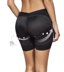 Moldeate 3001 Shorts Style Butt Lifter Shaper Color Black