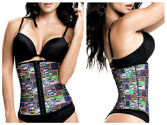 TrueShapers 1062 Latex free Workout Waist Training Cincher Color 04-Print