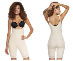 TrueShapers 1205 Slimmer & Firm Control Open-Bust Bodysuit with Removable Pads Color Beige