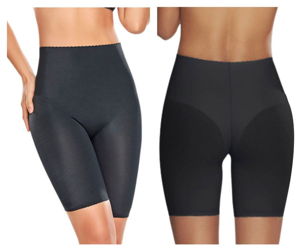TrueShapers 1270 Mid-Thigh Invisible Control Support Short Color Black
