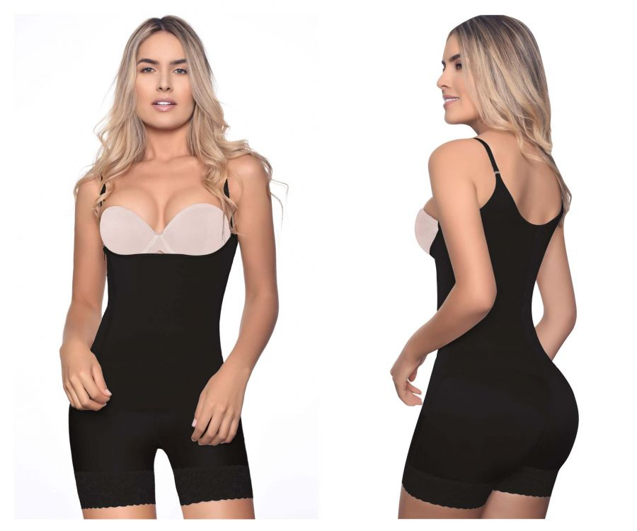 Vedette 3132 Body Shaper Zipper Closure Color Black