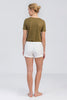 Khaki Harlow Scoop Neck