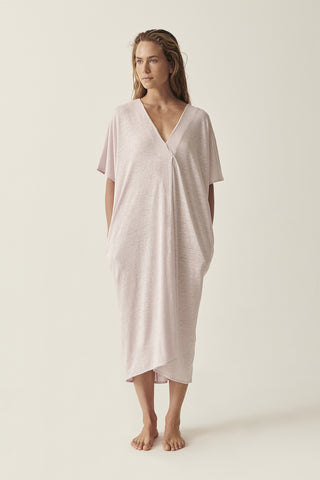 Lilac Martine V Neck Dress