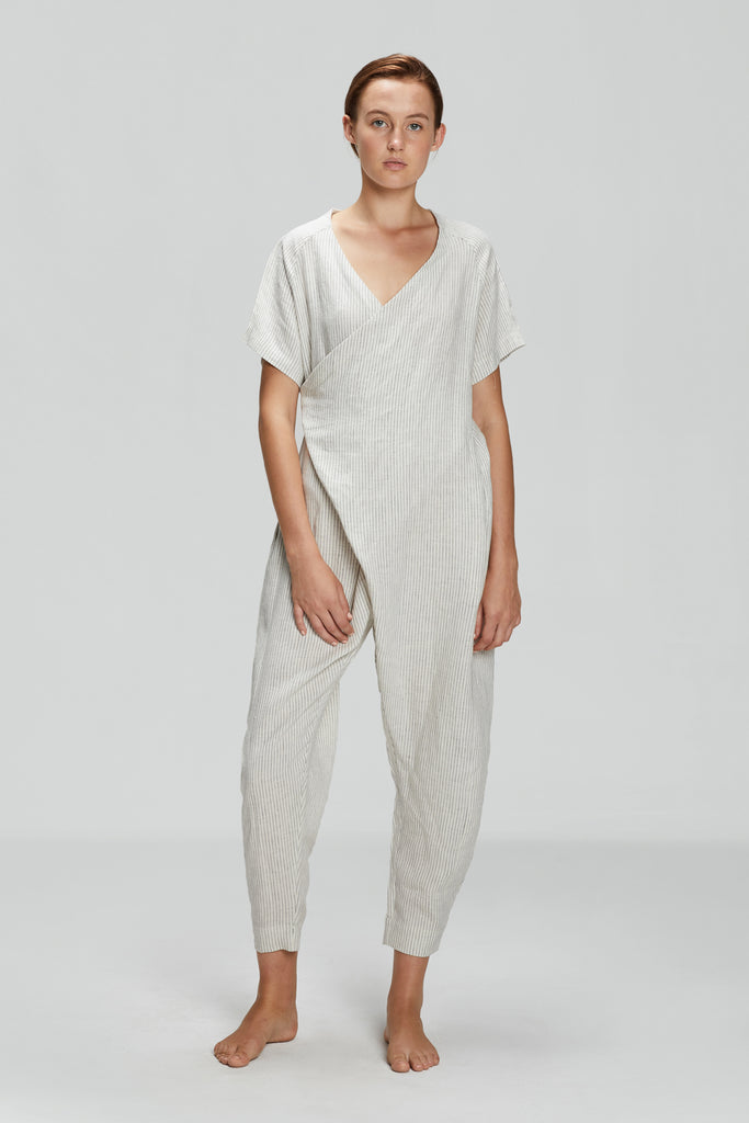 Pin Stripe Raven Relax Jumpsuit