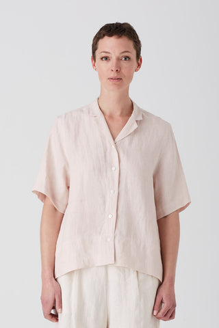 Tea Rose Iris Short Sleeve Shirt
